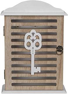 in legno in legno stile nautico Armadietto per chiavi montato a parete stile mediterraneo Nicexmas stile 1