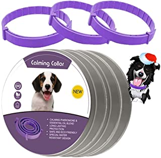 leQuiven Calming Collar for Dogs, 3 Pack Collars for Dogs, Relieve Anxiety Dog with Pheromones, Natural Waterproof Adjusta...