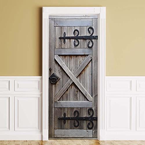 WonderlandWalls ONE Piece Sticker for Door Wall   Fridge - Country Barn Door.  Peel 70d3d6dee