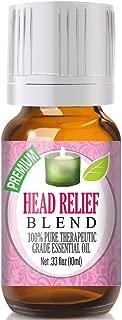 Head Relief Essential Oil Blend - 100% Pure Therapeutic Grade Head Relief Blend Oil - 10ml