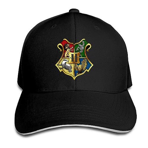 372971575f8c1 Hittings Harry Potter Hogwarts Crest Supermade Unisex Peaked Baseball Cap  Snapback Hats Black
