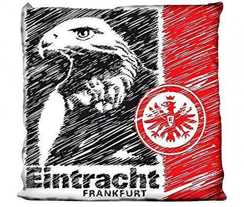 Bertels 1/051845 Eintracht Frankfurt Kissen Adler Scratched 38x38cm