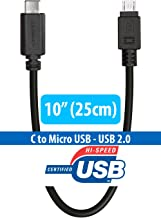 USB C to Micro USB Cable, HomeSpot USB C Cable - USB Type C to Micro USB A Charging Cable Short 10