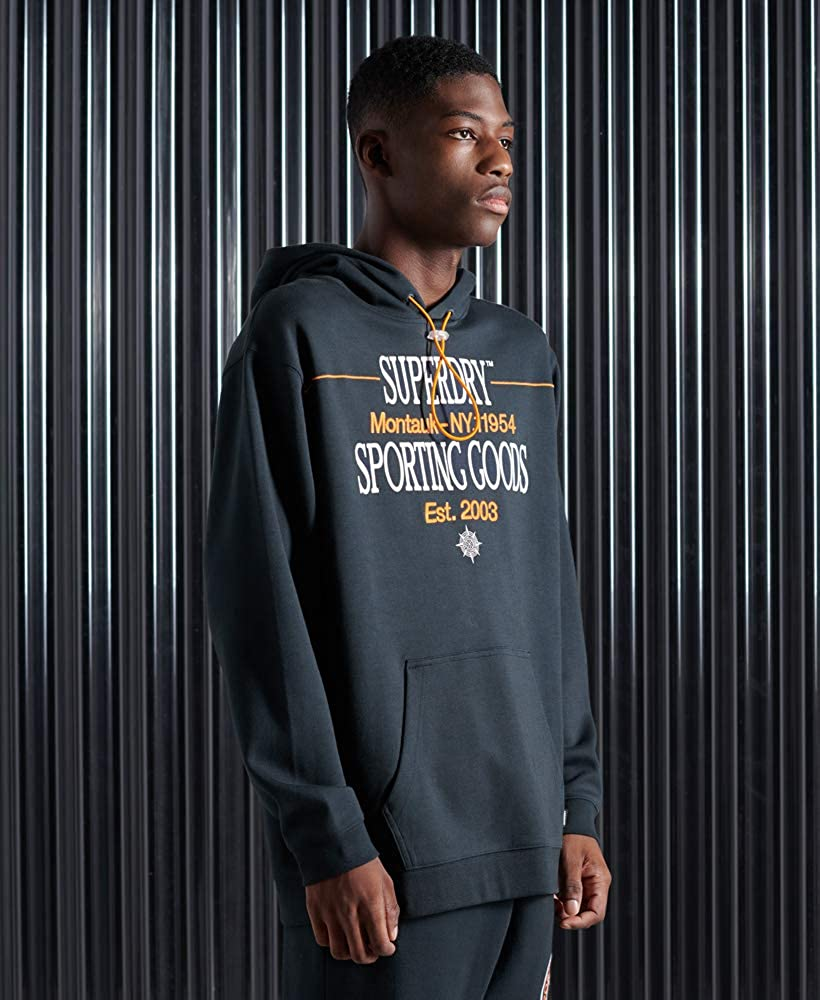 Superdry Yacht Prep Hood Pull-Over Homme Eclipse Navy