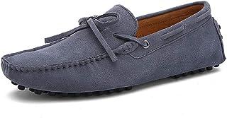 XFQ Chaussures Bateau Hommes, Chaussures Plates Casual Chaussures en Daim Souple Semelle Conduite Légère D'été Chaussures ...