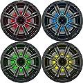 "Kicker LED Charcoal OEM Replacement Marine 6.5"" Inch 4? Coaxial Speaker Bundle - 4 Speakers by Kicker"