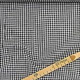 kawenSTOFFE Karostoff Schwarz Weiß Vichy Baumwolle 2mm