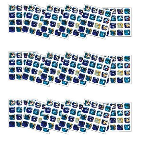 Fliesenaufkleber 10×10cm - Fliesen-Folie Bad - Klebefolie Küche - 18 Klebefliesen Selbstklebende mosaik fliesenaufkleber Bad Fliesendekor Aufkleber einfache Verklebung | Wieder ablösbar