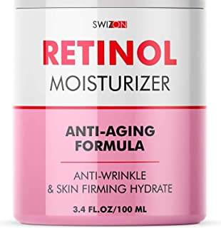 Anti-Wrinkle Retinol Cream for Face - Firming and Lifting Effect - Anti-Aging Face Moisturizer for Women and Men - Day and...