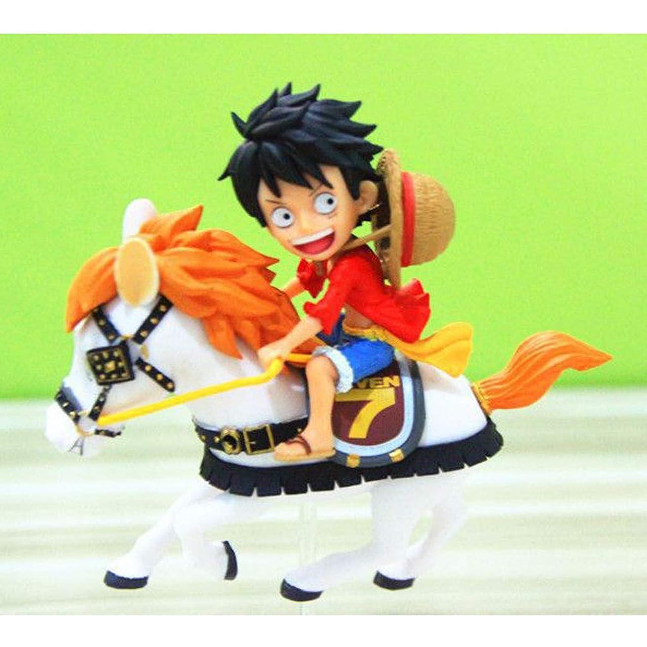 ブレース群がるテント乗馬ルフィ玩具像ワンピース玩具モデル漫画のキャラクターギフト/コレクション12CM装飾工芸品 Hyococ
