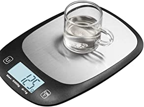 Stainless Steel Kitchen Electronic Scale High Precision Baking Scales Slim Design Household Scale Measuring in g lb oz ml 217.5 * 152 * 19MM Black White