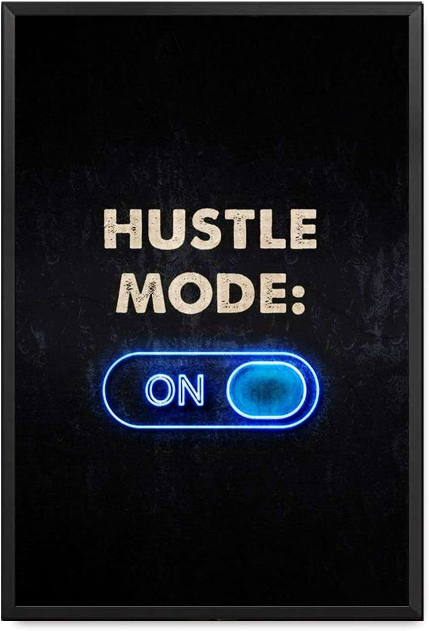 Hustle Minneapolis Mall Motivational Wall Decor Canvas Max 61% OFF Inspirational Print Quote