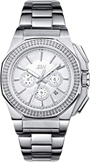 JBW Knox Men's 12 Diamonds Silver Dial Stainless Steel Band Watch - J6329A
