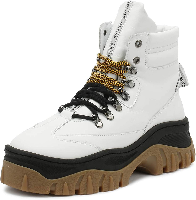 Bronx Damen Damen Weiß Schwarz Jaxstar Hi-Top Chunky Turnschuhe  Online-Outlet-Verkauf