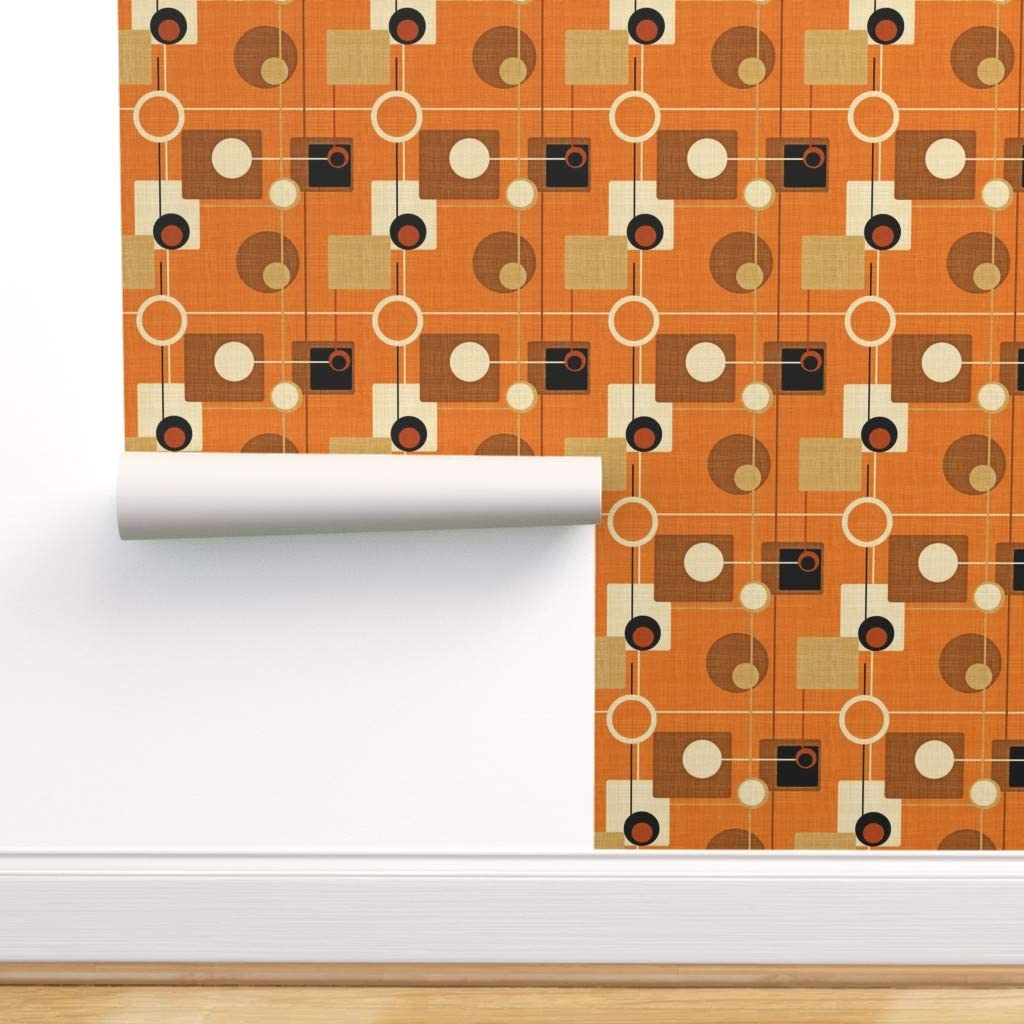 Max 62% OFF Spoonflower Peel and Stick Removable Mode Mid Century Save money Wallpaper