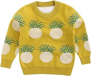 Mangjiu パイナップル柄 キッズ ニット 子供 セーター プレゼント 防寒着 暖かい 子供服