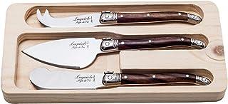 Laguiole Style de Vie Premium Line - Juego de cuchillos para queso (3 unidades, madera)
