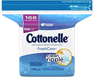 Cottonelle Fresh Flushable Wipes,  Refills,  Case of 4/168s (672 ct)