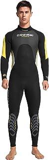 Cressi 男式 Morea Man 3mm 优质氯丁橡胶全长潜水服,黑色/黄色,XXL 码
