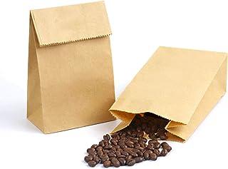 "Mini Brown Paper Bags, Kslong 50pcs Kraft Paper Bags 1 LB 3.5x2.2x6.7"" Baby Shower Wedding Favor Bags Candy Popcorn Treat ..."