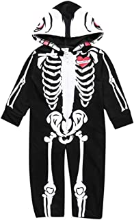 Baby Boys Helloween Costume Toddler 3D Skelecton Hooded Romper Jumpsuit 6M - 2T
