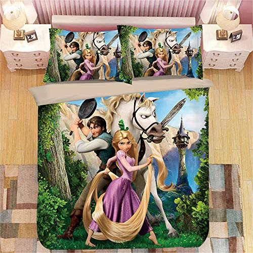Snoevpar Duvet Cover Set Cartoon Anime Character 135 * 200Cm Duvet Cover With 2 Pillowcases 3D Printed Bedding Set With Zipper Closure 3 Pieces Hypoallergenic Soft Microfiber Double