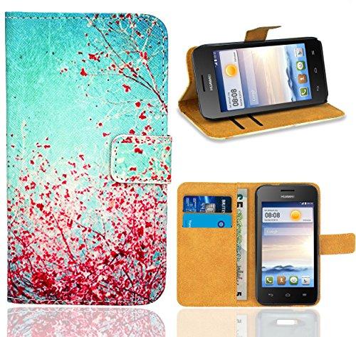 FoneExpert® Huawei Ascend Y330 Handy Tasche, Wallet Hülle Flip Cover Hüllen Etui Ledertasche Lederhülle Premium Schutzhülle für Huawei Ascend Y330