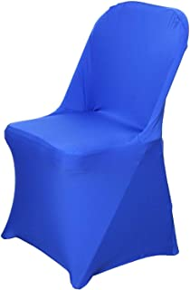 Efavormart 30 PCS Stretchy Spandex Fitted Folding Chair Cover Dinning Event Slipcover for Wedding Party Catering - Royal Blue
