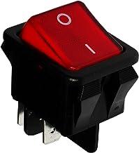 Rojo C10568 2 posiciones Interruptor conmutador de boton SPST-NO 1,5A//250V AERZETIX