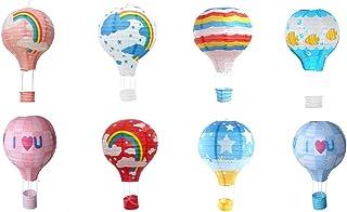"Matissa Pack of 8 Hot Air Balloon Paper Lantern Wedding Party Decoration Craft Lamp Shade (8"" (20 cm))"