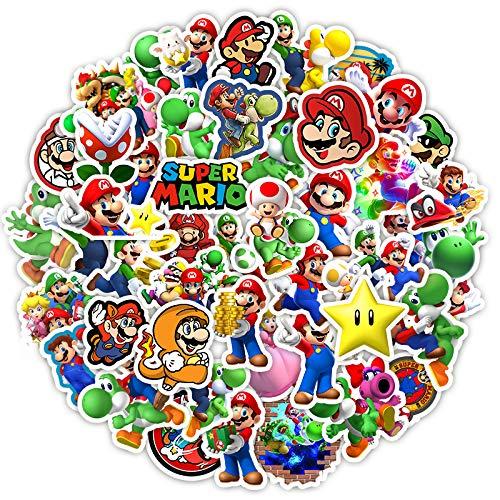 Adesivi anime 200 Pz/lotto Mario Super Mario notebook chitarra bagaglio tazza d'acqua telefono cellulare adesivi impermeabili personalità dei cartoni animati