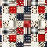Fabulous Fabrics Halbpanama Natur, Maritim, 140cm breit