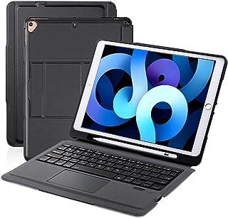 【iPad 10.2/10.5通用】 Ewin iPad キーボード ケース タッチパッド搭載 Bluetooth キーボード ipad 第9世代 英語配列 iPad 第7世代 iPad 第8世代 iPad Air3 iPad Pro 10.5...