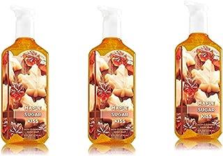 Lot of 3 Bath & Body Works Maple Sugar Kiss Deep Cleansing Hand Soap 8 Fl Oz Each (Maple Sugar Kiss)