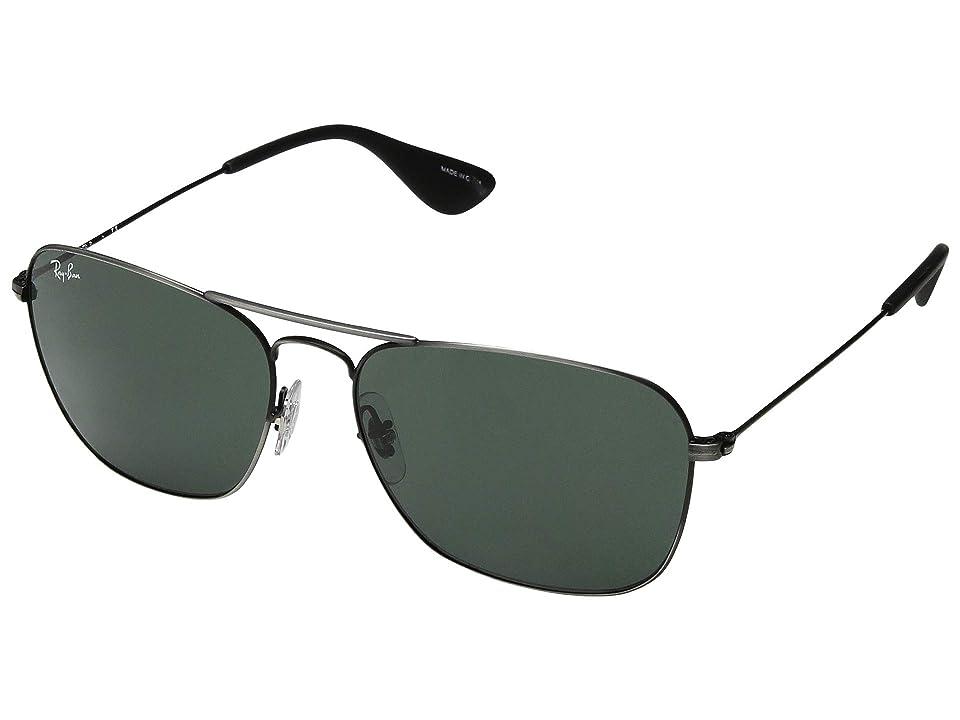 Ray-Ban RB3610 58 mm. (Matte Black Antique/Dark Green) Fashion Sunglasses