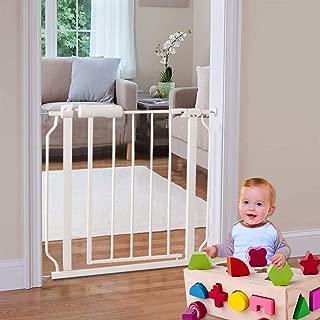 ALLAIBB Walk Through Baby Gate Auto Close White Child Safety Gates, Ex.24.2-27.56 in