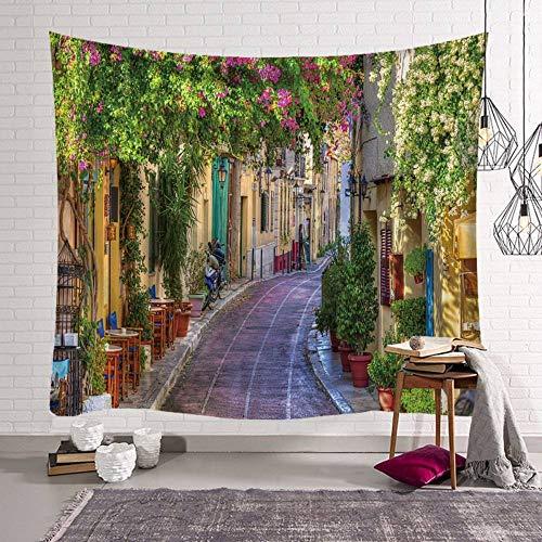 Wandteppich, Kreativer Blick auf die europäische Stadt