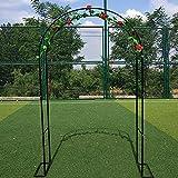 ZBYL Arco de jardín para Plantas trepadoras, Arco de Rosasde Metal para jardín, Patio, terraza, Parque Paisaje, 180×220 cm, Blanco Negro
