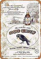 Old Crow Whiskey 金属板ブリキ看板警告サイン注意サイン表示パネル情報サイン金属安全サイン