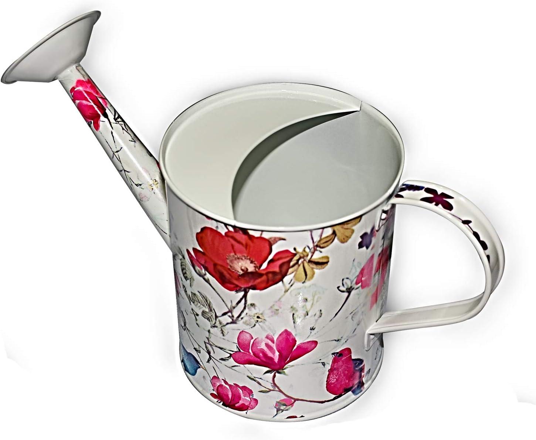 Megawodar Galvanized Steel Watering Can with Floral Print for Women, Men and Kids' Indoor or Outdoor Gardening