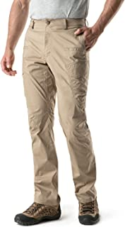 CQR Men's Outdoor Adventure Rugged Pants Hiking Camping Stretch Durable UPF 50+ Quick Dry Cargo Trousers