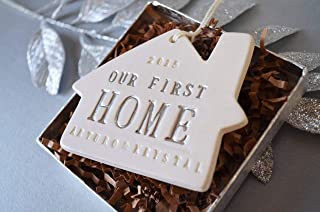 Personalized Christmas Ornament - Our First or Our New Home 2019 - Gift Boxed