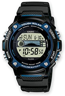 Casio Mens Solar Powered Watch, Digital Display and Resin Strap W-S210H-1AVEF