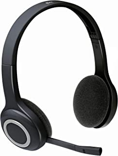 Logitech 981-000342 H600 Wireless Headset, Stereo Headphones with Rotating Noise-Cancelling Microphone, USB Nano-Receiver,...