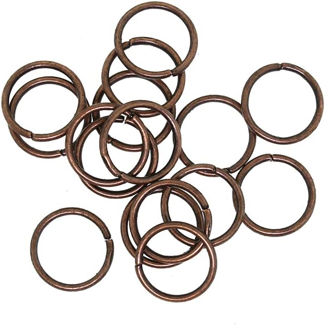 100 Antique Copper Tone Jump Rings 10mm 18 1mm Open - mart x Gauge Dealing full price reduction