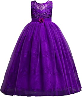 Debispax Little Big Girls Prom Ball Gown Princess Lace Pageant Party Dresses Age 4-14 Years