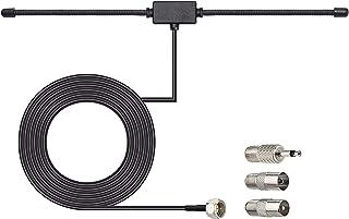 Bingfu DAB FM-radio-antenne, FM dipolantenne met 3 m verlengkabel voor draagbare radio-tuner, stereo-ontvanger, AV-ontvang...