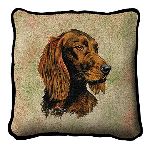 Pure Country Setter irlandés Dog diseño Tapiz cojín