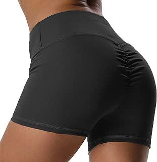 Scrunch Yoga Shorts for Women Fitness High Waist Ruched Butt Push Up Gym Running Sports Tummy Control Sportwear