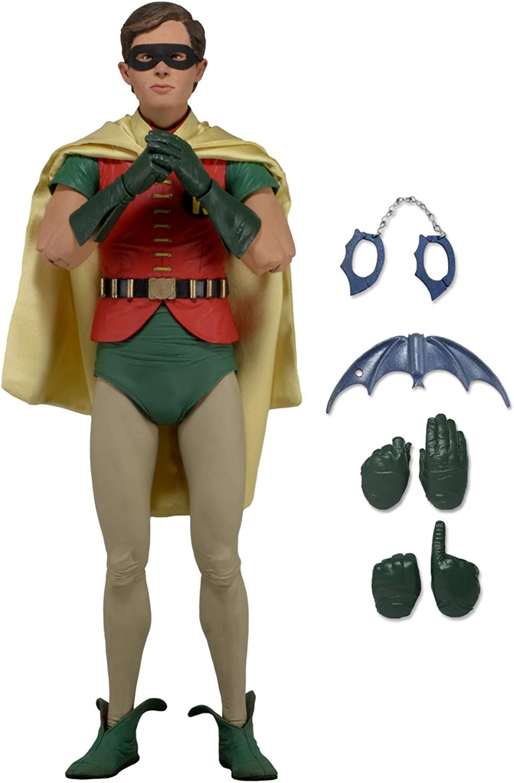 A la venta con descuento del 70%. Batman cuarta Escala de la Figura de Robin Burt Ward Ward Ward - Altura - NECA - Figura Robin Classic 1966 (43 cm)  mejor oferta